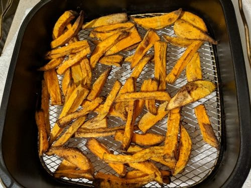 air fry sweet potatoes